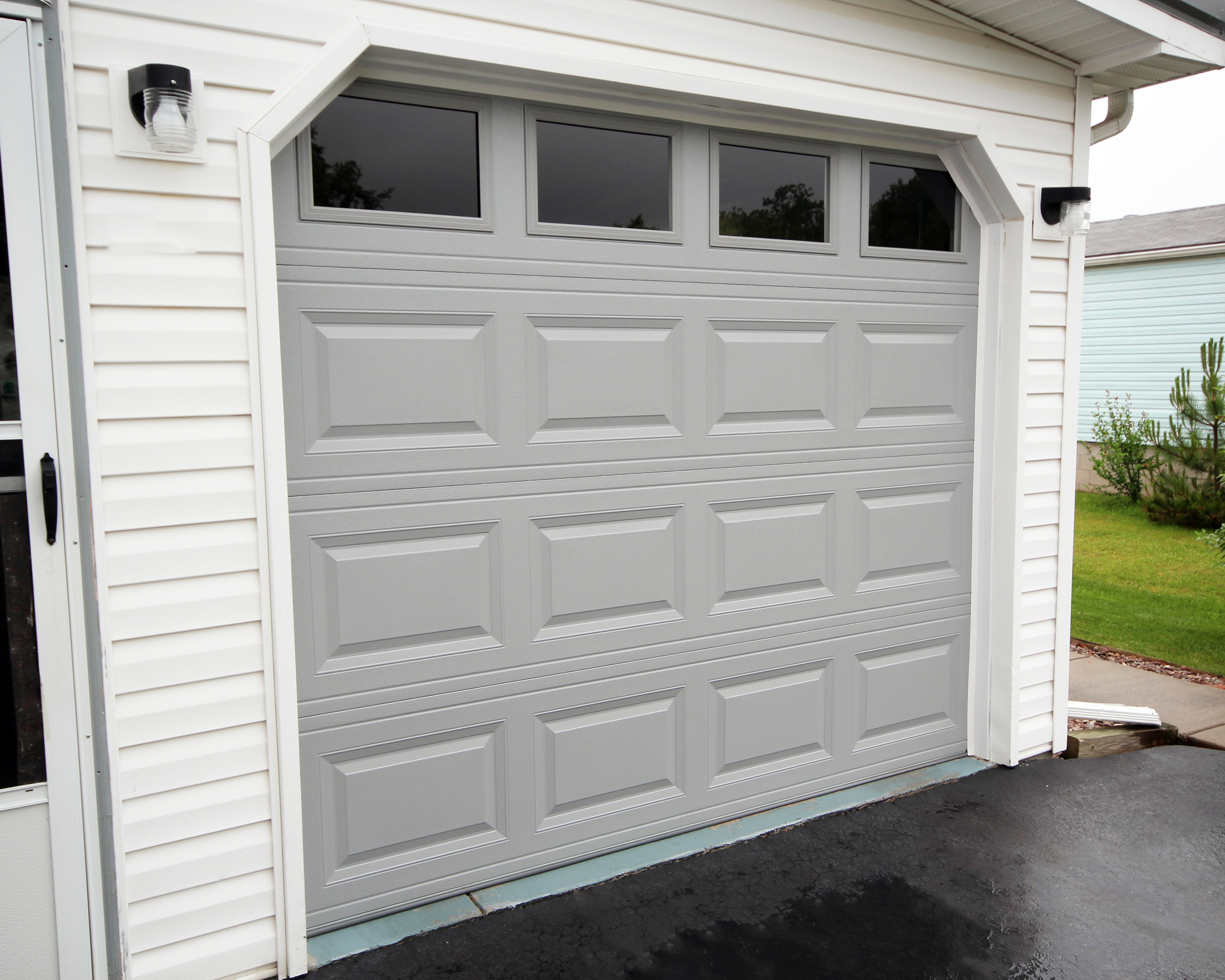 8x7 Raised Panel Garage Door