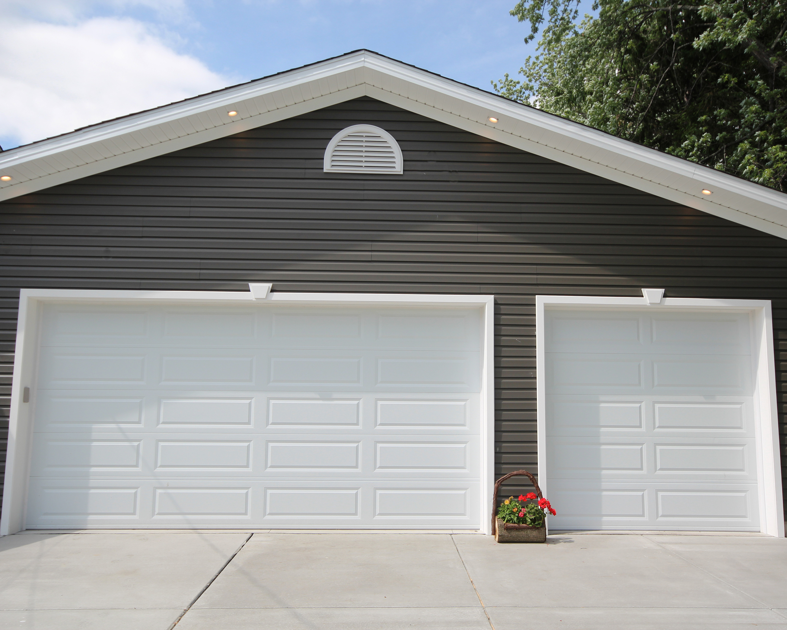 16x8 And 8x8 Raised Panel Garage Doors
