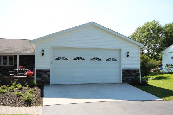 Residential Garage Door - CHI Long Panel 16x8 w-Sherwood Decorative Inserts