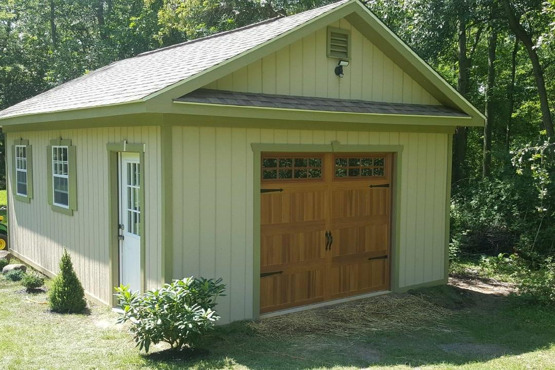 Stamped Carriage House in Cedar Woodtones and Stockton Windows